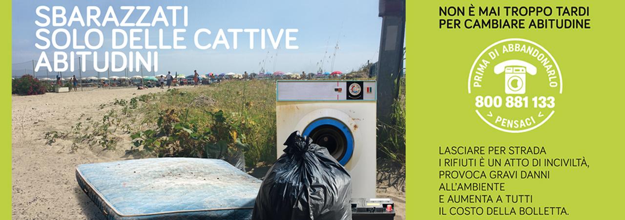 Campagna contro abbandoni rifiuti - Clara spa